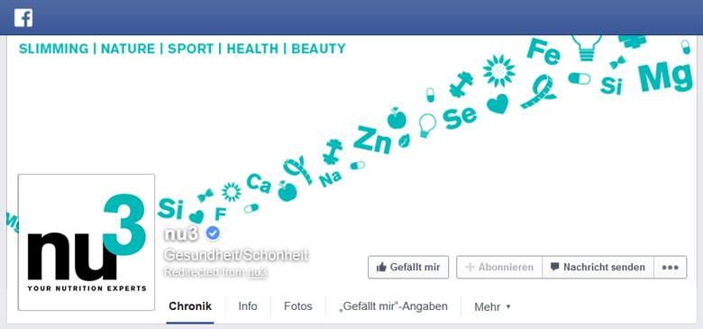 Nu3 bei Facebook