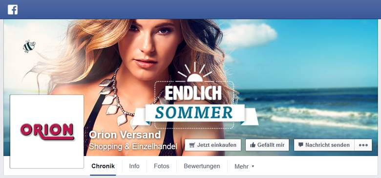 Orion bei Facebook