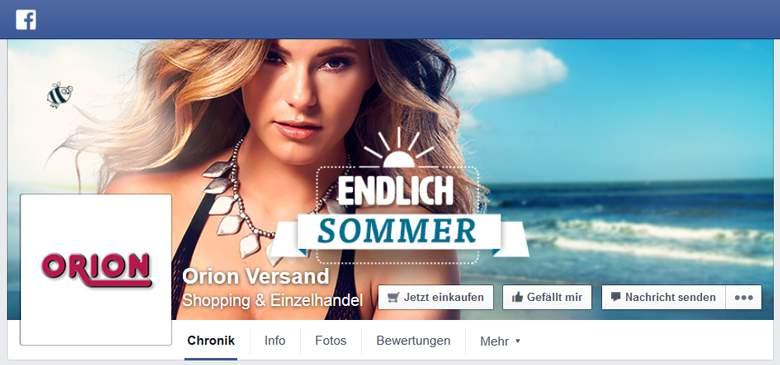 Orion bei Facebook