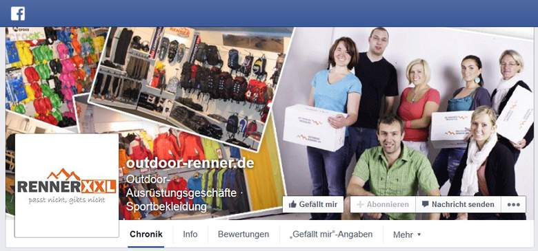 Outdoor Renner bei Facebook