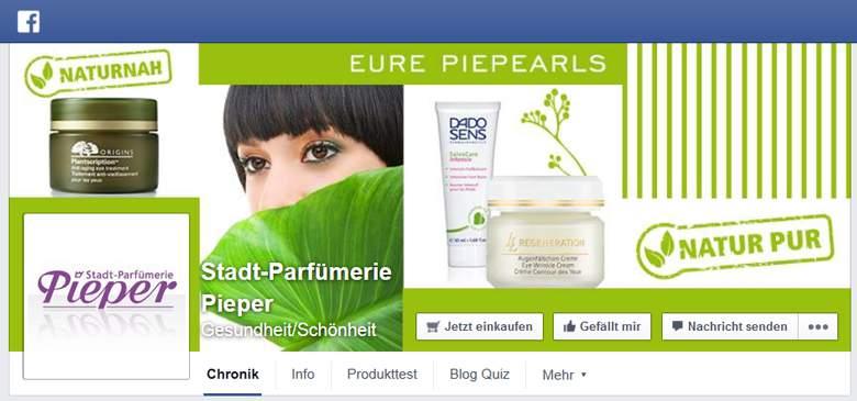 Parfümerie Pieper bei Facebook