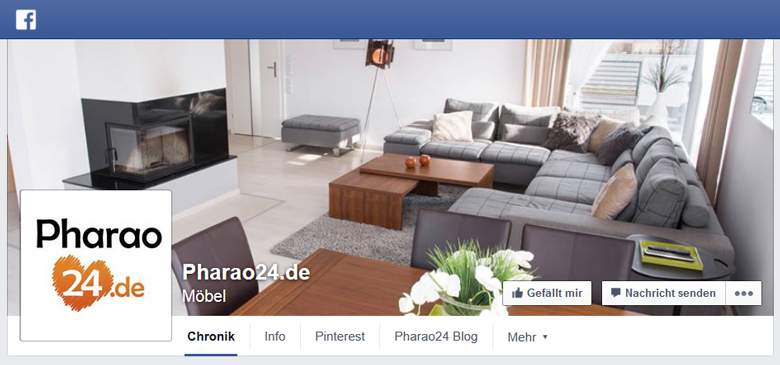 Pharao24 bei Facebook