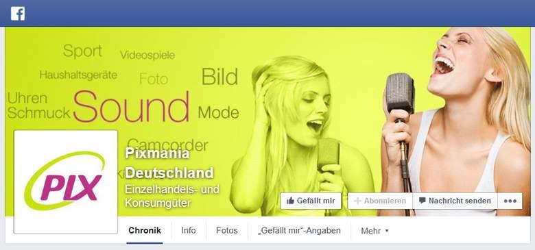 Pixmania bei Facebook