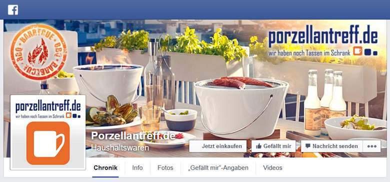 Porzellantreff bei Facebook