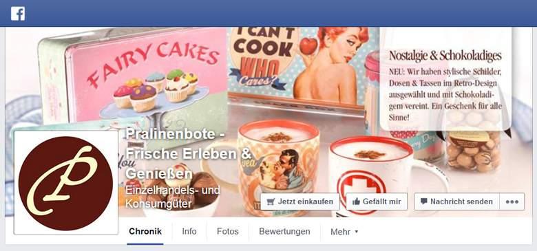 Pralinenbote bei Facebook