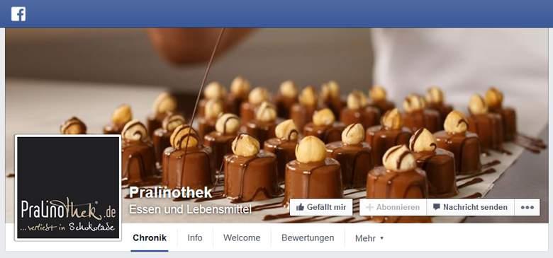 Pralinothek bei Facebook