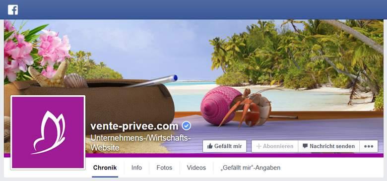 Vente-Privee bei Facebook