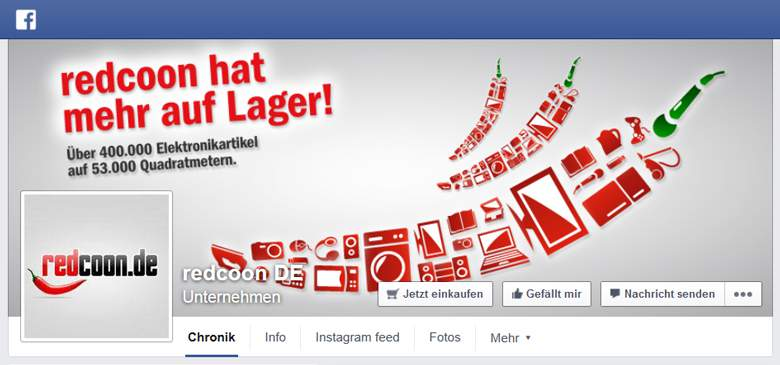 Redcoon bei Facebook