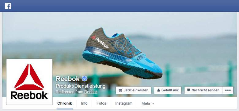 Reebok bei Facebook