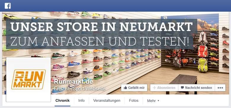 Runmarkt bei Facebook