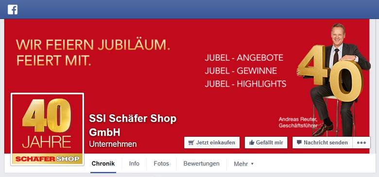 Schäfer Shop bei Facebook