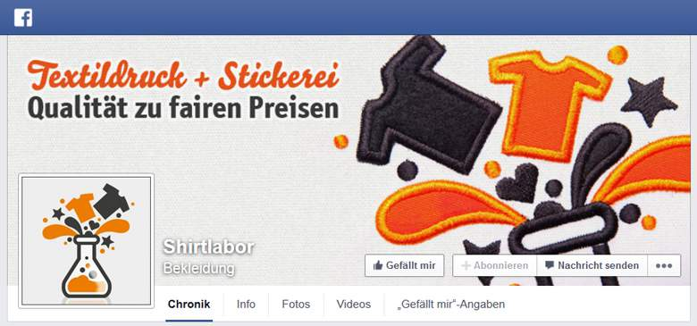 Shirtlabor bei Facebook