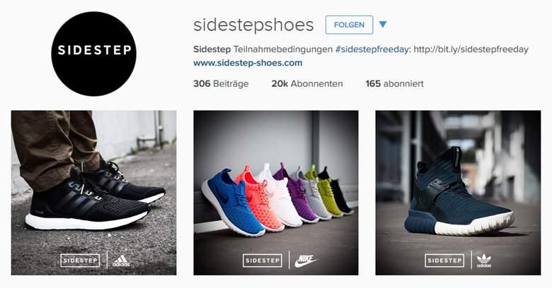 Sidestep bei Instagram