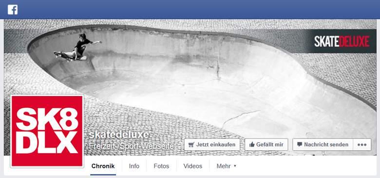 Skatedeluxe bei Facebook