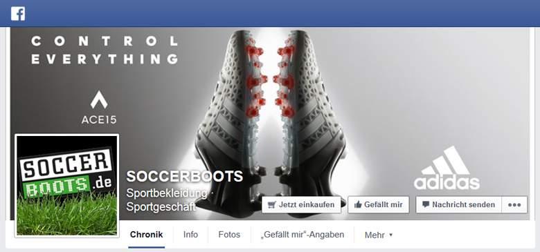Soccerboots bei Facebook
