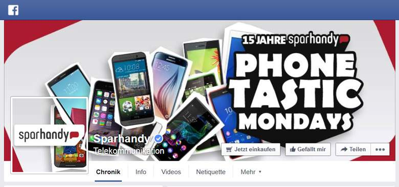 Sparhandy bei Facebook