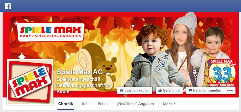 Spiele Max bei Facebook