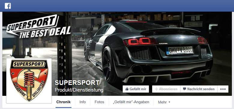Supersport bei Facebook