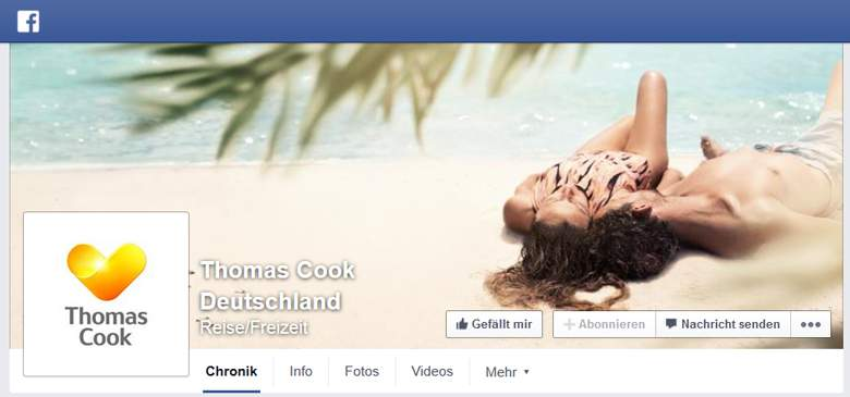 Thomas Cook bei Facebook