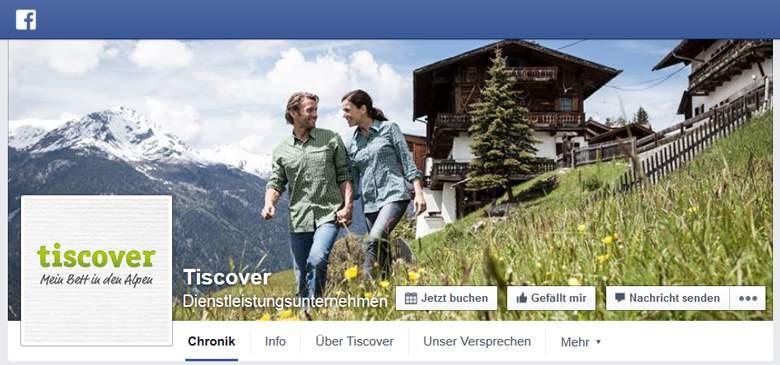 Tiscover bei Facebook