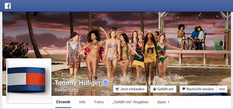 Tommy Hilfiger bei Facebook