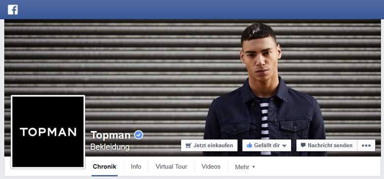 TOPMAN bei Facebook