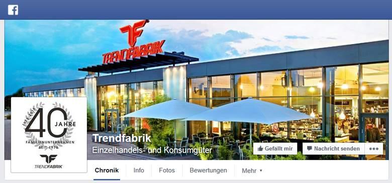 Trendfabrik bei Facebook