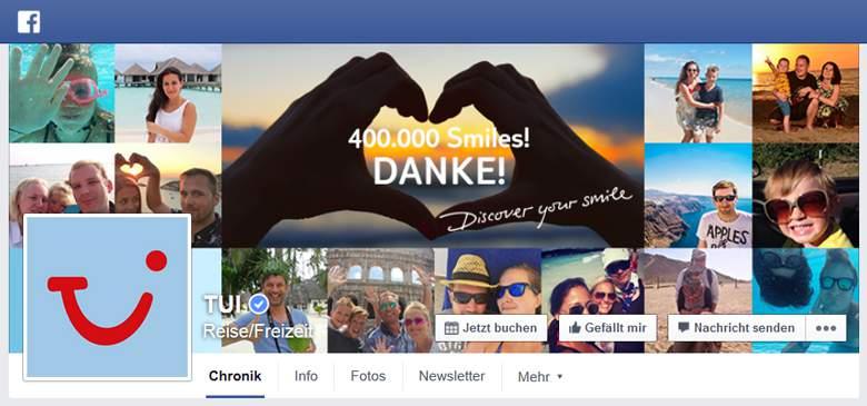 Tui.com bei Facebook