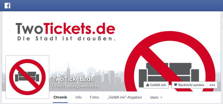 TwoTickets bei Facebook