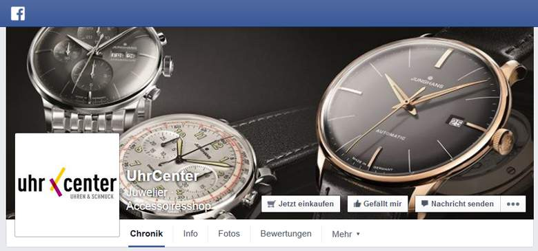 UhrCenter bei Facebook