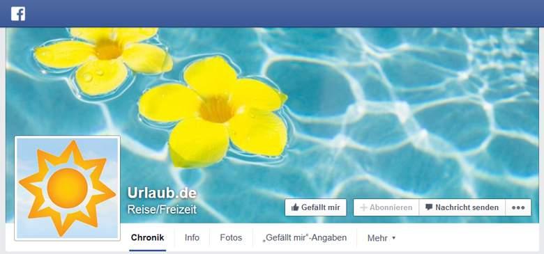 Urlaub.de bei Facebook