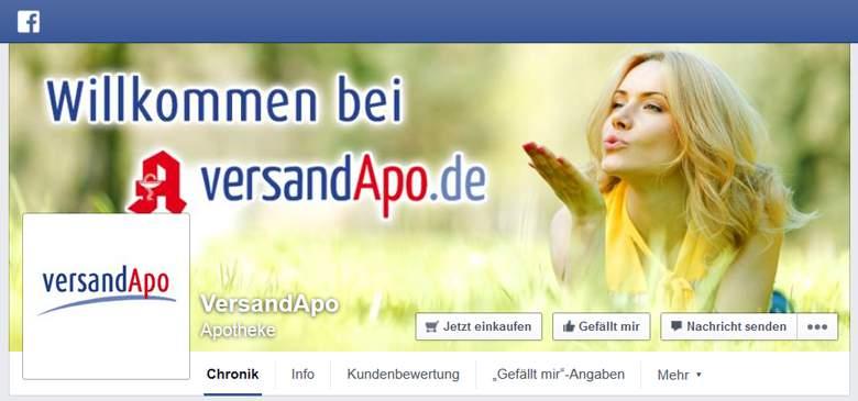 versandApo bei Facebook