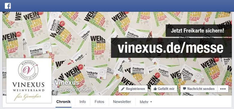 Vinexus bei Facebook