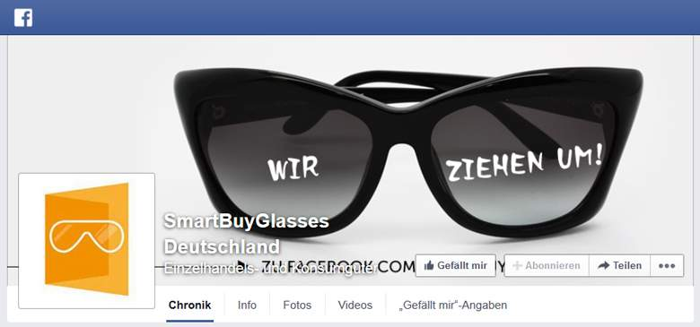 SmartBuyGlasses bei Facebook