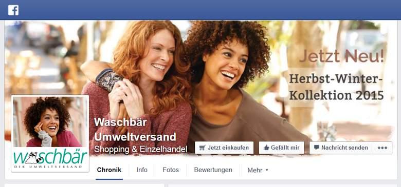 Waschbär bei Facebook