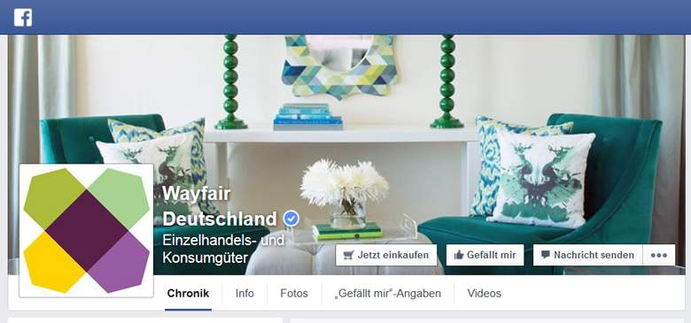 Wayfair bei Facebook