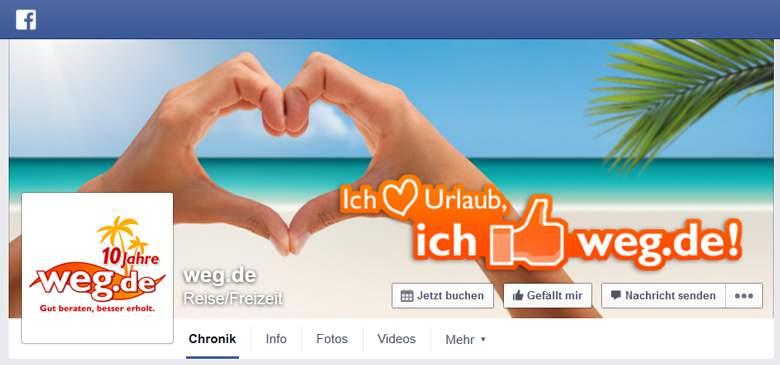 Weg.de bei Facebook