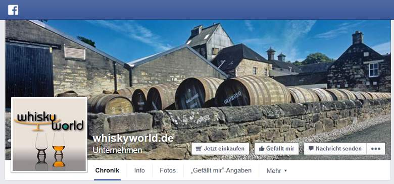 Whiskyworld bei Facebook