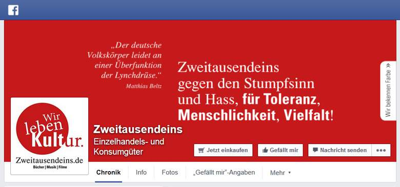 Zweitausendeins bei Facebook