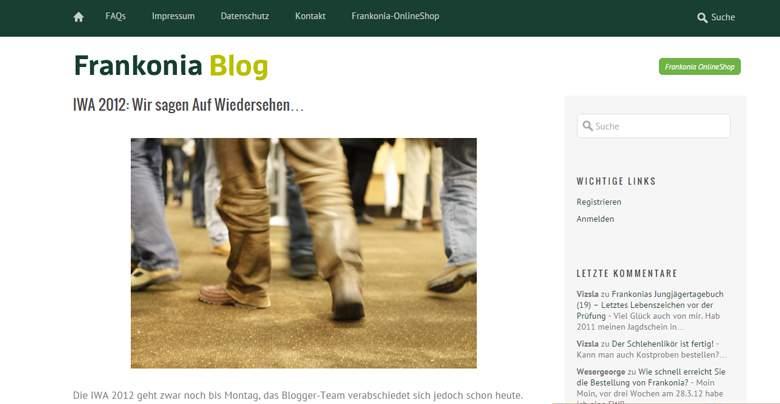 Frankonia Blog