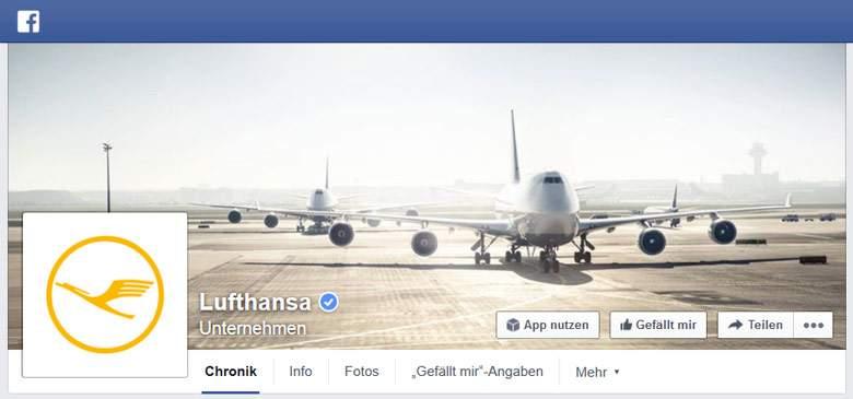 Facebook von Lufthansa